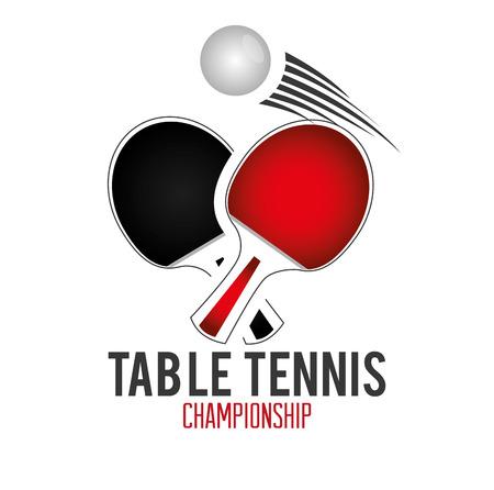 ping pong: Diseño Sport sobre blanco