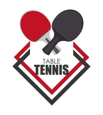 table tennis: Sport design over white  Illustration