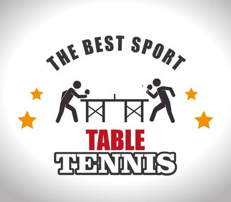 tischtennis: Sport-Design auf wei�em Hintergrund, Vektor-Illustration.