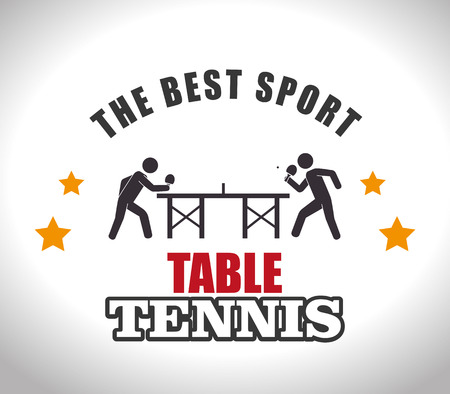 table tennis: Sport design over white background, vector illustration.