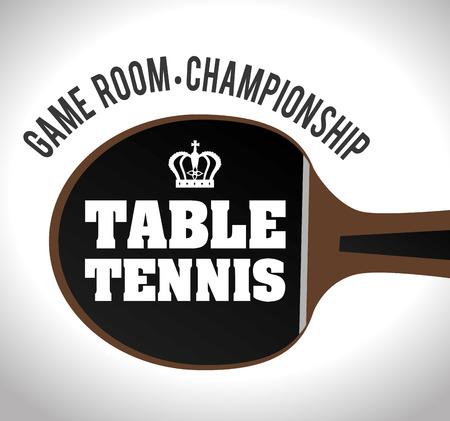 recreation rooms: Sport design over white background, vector illustration.