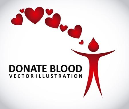 donate: donate blood design, vector illustration