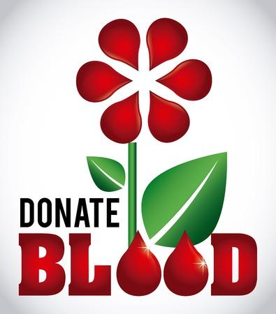 blood donation: donate blood design, vector illustration