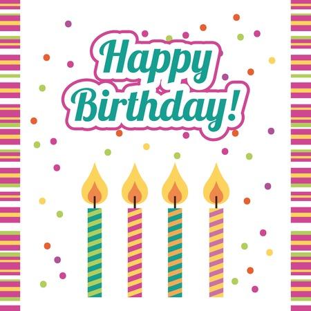 bright card: happy birthday design, vector illustration Illustration