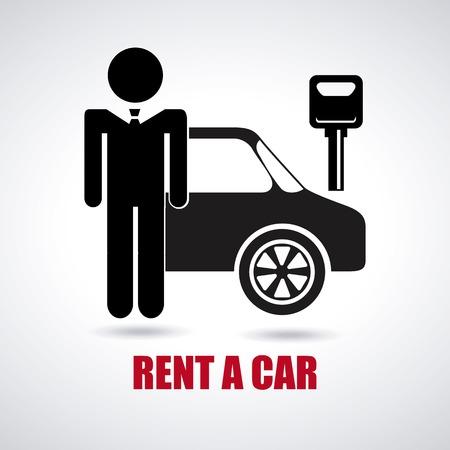 dealership: rent a car design, vector illustration