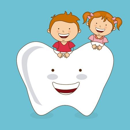 dental care design, vector illustration Stock Illustratie