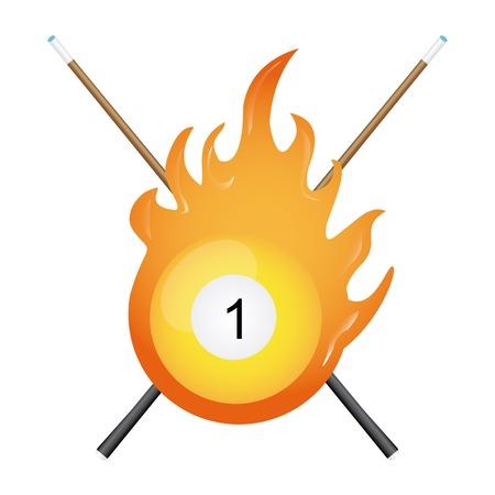 billiard tournament design, vector illustration Vector