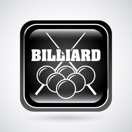 cues: billiard tournament design, vector illustration Illustration