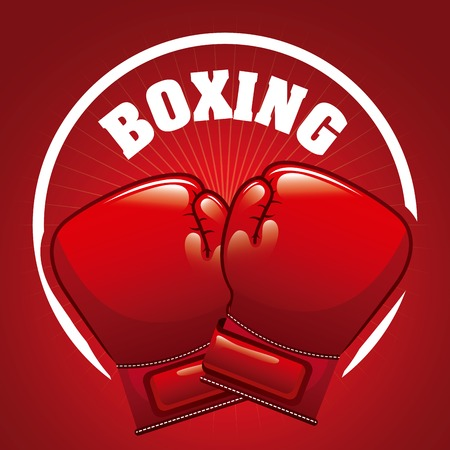 boxing sport design, vector illustration