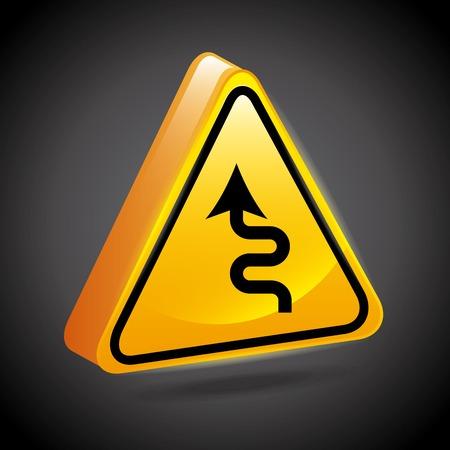 road signs design, vector illustration Vector