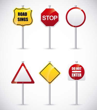 signs road: road signs design, vector illustration