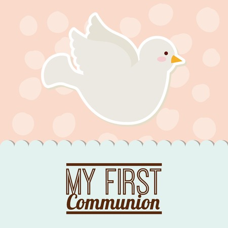 first holy communion: first communion design, vector illustration eps10 graphic