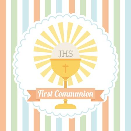 eerste communie ontwerp, vectorillustratie eps10 grafische
