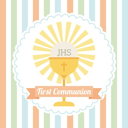 first communion design, vector illustration eps10 graphic