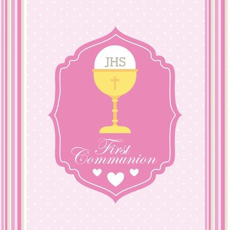christening: first communion design, vector illustration eps10 graphic