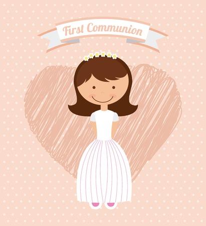 primera comunion: primera comunión diseño, ilustración vectorial gráfico eps10