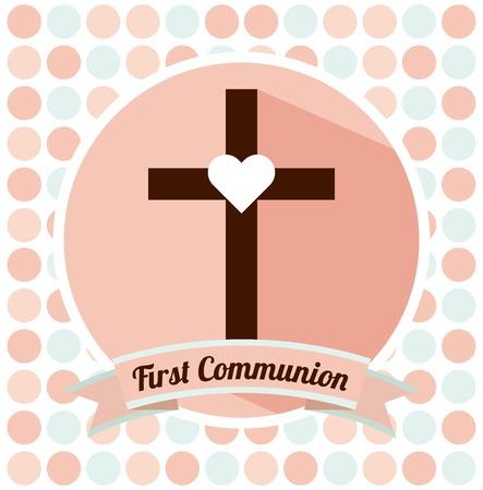 bautizo: primera comuni�n dise�o, ilustraci�n vectorial gr�fico eps10