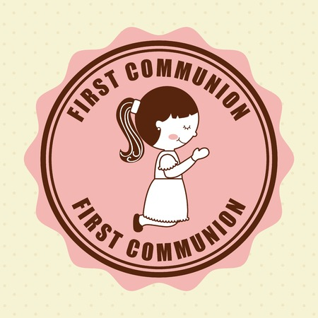 sacraments: first communion design, vector illustration eps10 graphic