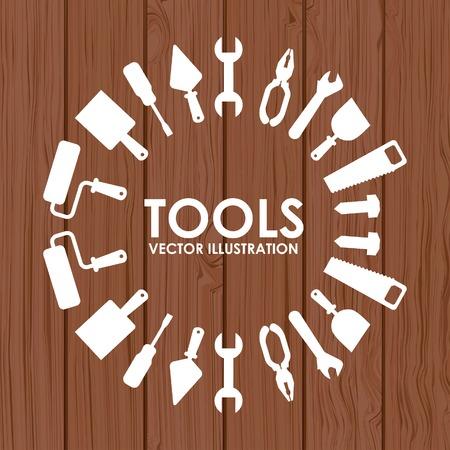 mantenimiento: dise�o de herramientas, ilustraci�n vectorial gr�fico eps10 Vectores