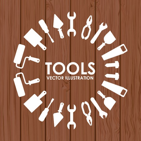 hand tool: tools design, vector illustration eps10 graphic