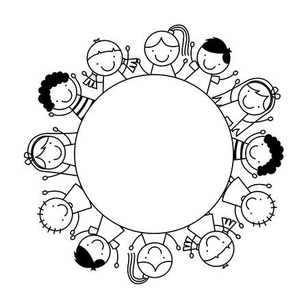 little boys: children cute design, vector illustration eps10 graphic