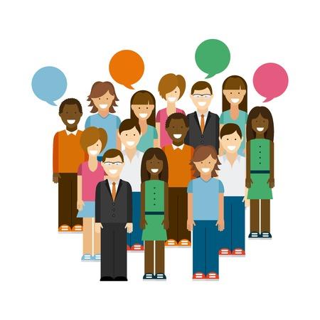 bocetos de personas: dise�o de la red social, la ilustraci�n vectorial gr�fico eps10 Vectores