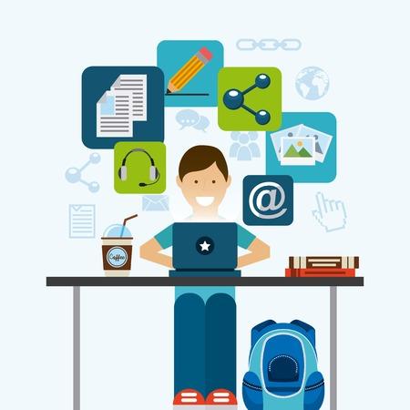 blog template design, vector illustration eps10 graphic