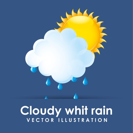 whit: cloudy whit rain design, vector illustration eps10 graphic