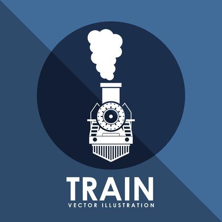 train icon design, vector illustration eps10 graphic Vettoriali
