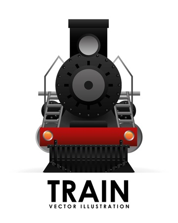 train icon design, vector illustration eps10 graphic Ilustracja