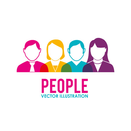 socializando: Dise�o de la gente sobre el fondo blanco, ilustraci�n vectorial.