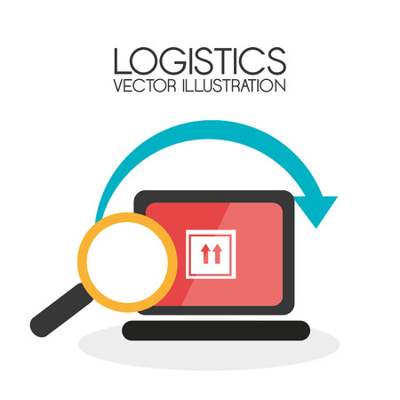 commerce and industry: Delivery design over white background, vector illustration.