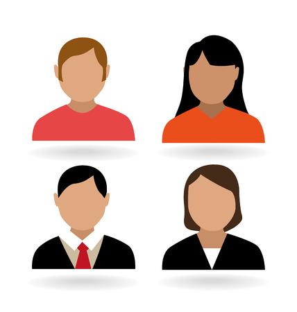male portrait: People design over white background, vector illustration.