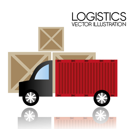 article marketing: Delivery design over white background, vector illustration.