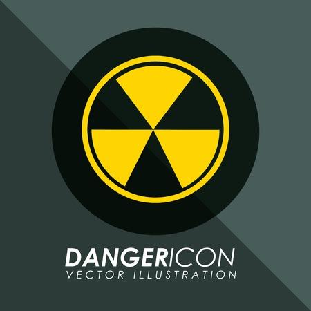 nuke plant: icono de peligro de dise�o, ilustraci�n vectorial gr�fico eps10 Vectores