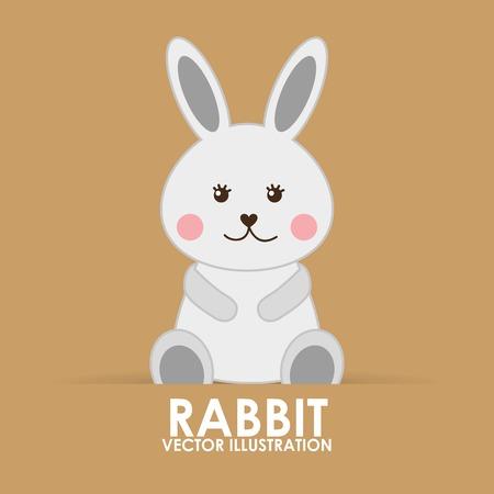 animalitos tiernos: dise�o lindo conejo, ejemplo gr�fico del vector eps10