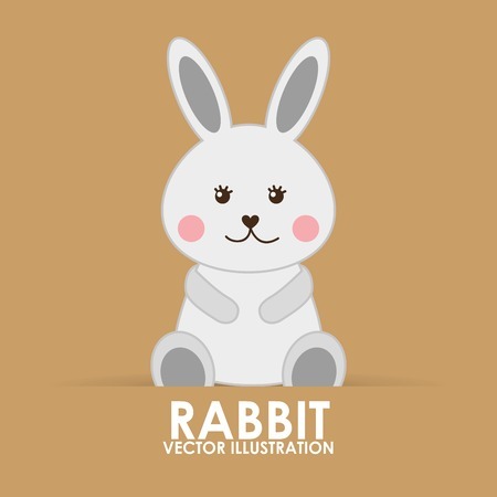 rabbit cute design, vector illustration eps10 graphic Illustration