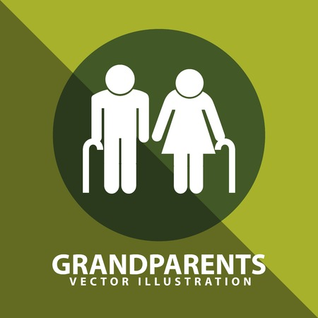 happy mature couple: grandparents silhouettes design, vector illustration eps10 graphic