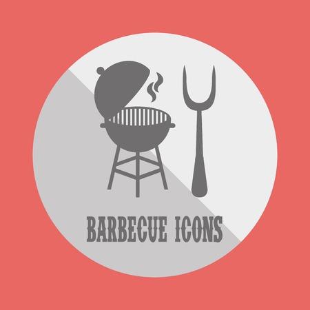 bbq grill: berbecue icon design, vector illustration graphic