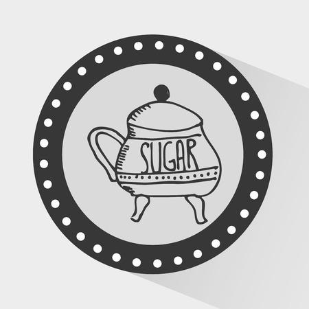 granules: sugar container design, vector illustration graphic