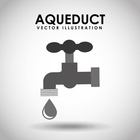 sanitary engineering: aqueduct tap design, vector illustration  graphic Illustration