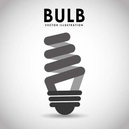 bombillo ahorrador: bombilla icono del diseño, ilustración vectorial gráfico