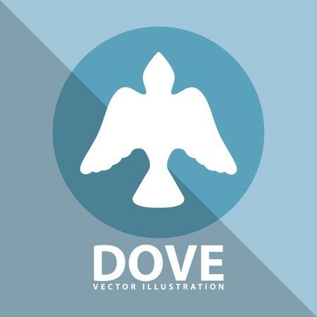 paloma: paloma icono del dise�o, ilustraci�n vectorial gr�fico eps10 Vectores