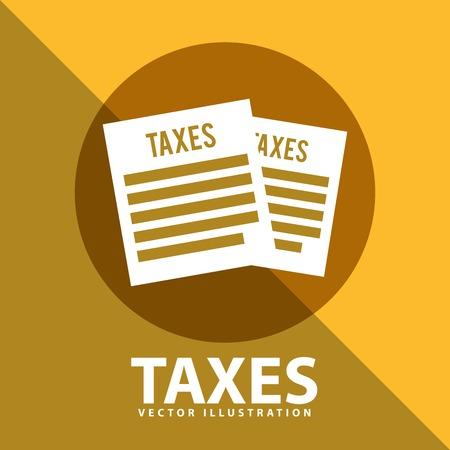 income tax: tax icon design, vector illustration eps10 graphic Illustration