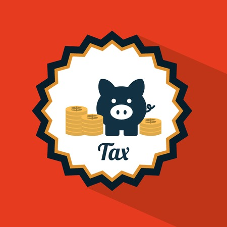 tax icon design, vector illustration eps10 graphic Vector