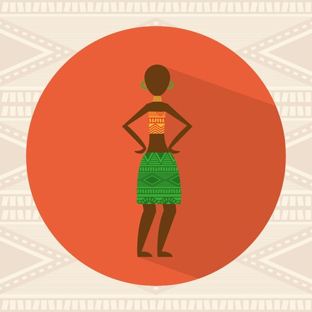 cultural and ethnic clothing: african culture design, vector illustration eps10 graphic