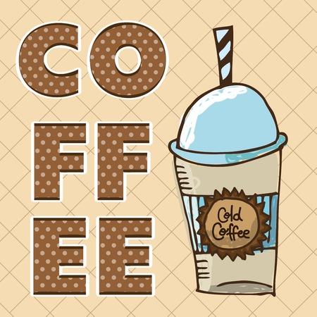 delicious coffee design, vector illustration eps10 graphic Vector
