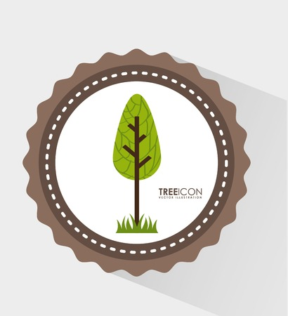 reforestaci�n: �rbol icono del dise�o, ilustraci�n vectorial gr�fico eps10 Vectores