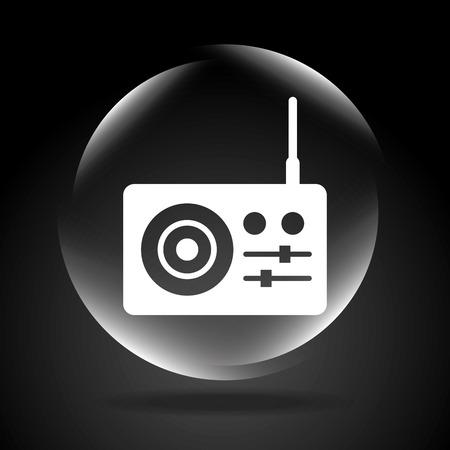 antena: sound icon design, vector illustration eps10 graphic Illustration