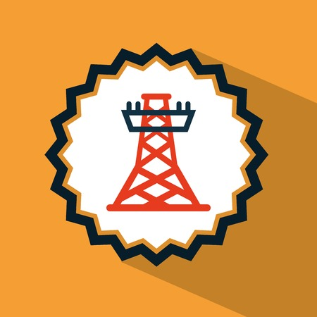 communications tower: tower energy design, vector illustration eps10 graphic